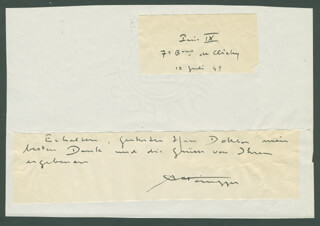 ARTHUR HONEGGER - AUTOGRAPH NOTE SIGNED 07/12/1949