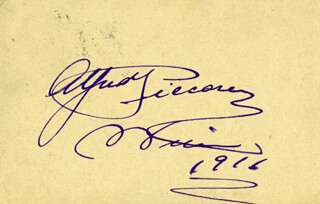 ALFRED PICCAVER - AUTOGRAPH 1916