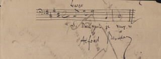 ALFRED BRUNEAU - AUTOGRAPH MUSICAL QUOTATION SIGNED