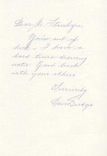 DON BUDGE - AUTOGRAPH LETTER SIGNED