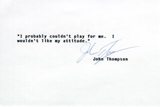 JOHN THOMPSON - TYPED QUOTATION SIGNED