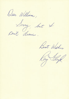 RAY FLOYD - AUTOGRAPH NOTE SIGNED