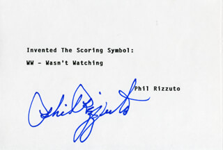 PHIL RIZZUTO - TYPED QUOTATION SIGNED