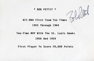BOB PETTIT - BIOGRAPHY SIGNED