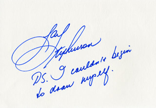 JAN STEPHENSON - AUTOGRAPH NOTE SIGNED