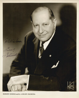 SIGMUND ROMBERG - AUTOGRAPHED INSCRIBED PHOTOGRAPH