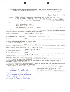 NEIL SEDAKA - DOCUMENT SIGNED 05/20/1976 CO-SIGNED BY: DIANE M. BELLIS, CAROLYN BUCHANON