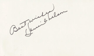 HARRIET HILLIARD NELSON - AUTOGRAPH SENTIMENT SIGNED