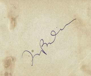 IRVING BERLIN - AUTOGRAPH CO-SIGNED BY: GERTRUDE NIESEN