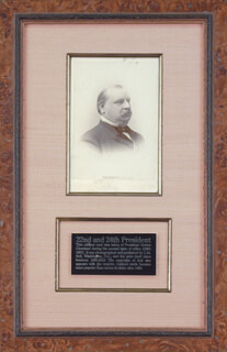 PRESIDENT GROVER CLEVELAND - PHOTOGRAPH UNSIGNED