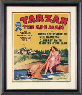 JOHNNY WEISSMULLER - POSTER UNSIGNED