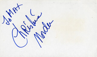 CHRISTINE NORDEN - INSCRIBED SIGNATURE