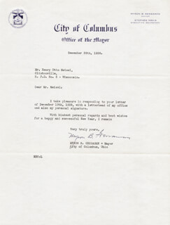 MYRON B. GESSAMAN - TYPED LETTER SIGNED 12/28/1938