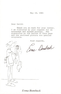 ERMA BOMBECK - TYPED LETTER SIGNED 05/19/1981