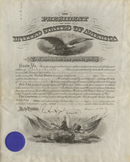 PRESIDENT WILLIAM McKINLEY - MILITARY APPOINTMENT SIGNED 01/14/1899 CO-SIGNED BY: LT. GENERAL HENRY C. CORBIN, RUSSELL A. ALGER