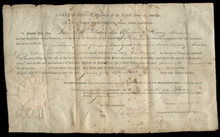 PRESIDENT JAMES MADISON - LAND GRANT SIGNED 06/23/1813 CO-SIGNED BY: EDWARD TIFFIN
