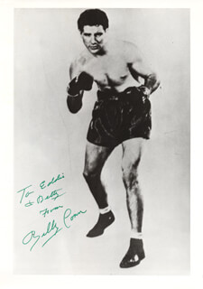 BILLY CONN - AUTOGRAPHED INSCRIBED PHOTOGRAPH