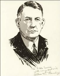 Autographs: VICE PRESIDENT ALBEN W. BARKLEY - INSCRIBED ILLUSTRATION SIGNED