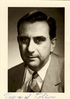 EDWARD TELLER - AUTOGRAPHED SIGNED PHOTOGRAPH
