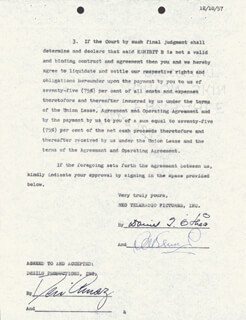 DESI ARNAZ SR. - CONTRACT SIGNED 12/11/1957