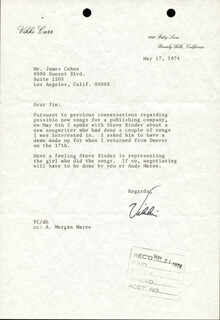 VIKKI CARR - TYPED LETTER SIGNED 05/17/1974