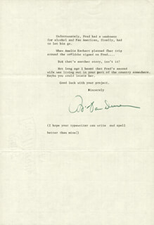 WILLIAM VAN DUSEN - TYPED LETTER SIGNED 01/14/1974