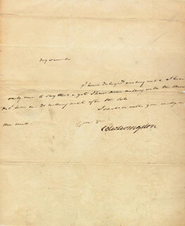 Autographs: EDWARD LIVINGSTON - AUTOGRAPH NOTE SIGNED 04/20/1827