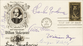 IRA GERSHWIN - FIRST DAY COVER SIGNED CO-SIGNED BY: GEORGE KELLY, FRANK D. GILROY, CHARLES GORDONE, WILLIAM INGE, ARTHUR MILLER
