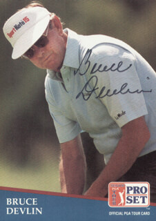 BRUCE DEVLIN - TRADING/SPORTS CARD SIGNED