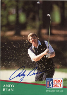 Autographs: ANDY BEAN - TRADING/SPORTS CARD SIGNED