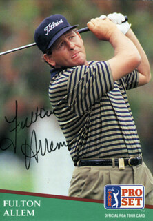 Autographs: FULTON ALLEM - TRADING/SPORTS CARD SIGNED