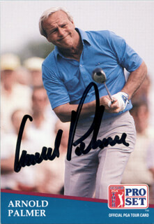 ARNOLD PALMER - TRADING/SPORTS CARD SIGNED