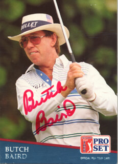 Autographs: FRED BUTCH BAIRD - TRADING/SPORTS CARD SIGNED