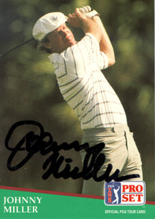 JOHNNY MILLER - TRADING/SPORTS CARD SIGNED