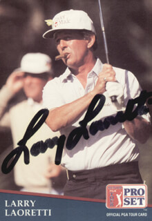 Autographs: LARRY LAORETTI - TRADING/SPORTS CARD SIGNED