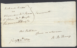 CHIEF JUSTICE ROGER B. TANEY - AUTOGRAPH FRAGMENT SIGNED 07/25/1820