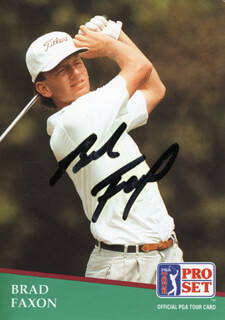 BRAD FAXON - TRADING/SPORTS CARD SIGNED