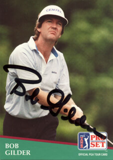 Autographs: BOB GILDER - TRADING/SPORTS CARD SIGNED