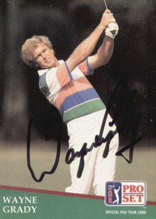 Autographs: WAYNE GRADY - TRADING/SPORTS CARD SIGNED