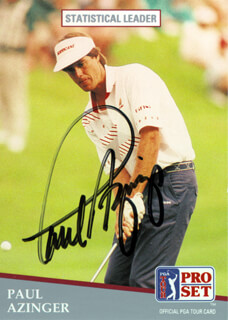 Autographs: PAUL AZINGER - TRADING/SPORTS CARD SIGNED