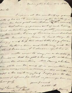 WILLIAM T. BARRY - AUTOGRAPH LETTER SIGNED 01/02/1834