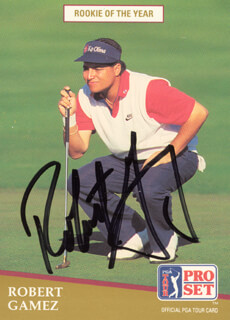 ROBERT GAMEZ - TRADING/SPORTS CARD SIGNED