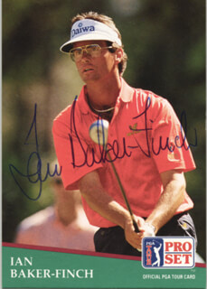Autographs: IAN BAKER-FINCH - TRADING/SPORTS CARD SIGNED