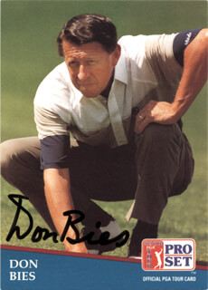 Autographs: DON BIES - TRADING/SPORTS CARD SIGNED
