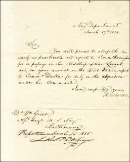 MAHLON DICKERSON - DOCUMENT SIGNED 03/17/1838