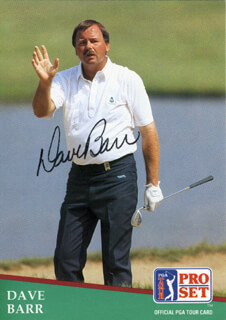 Autographs: DAVE BARR - TRADING/SPORTS CARD SIGNED