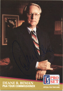Autographs: DEANE R. BEMAN - TRADING/SPORTS CARD SIGNED