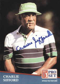 Autographs: CHARLES SIFFORD - TRADING/SPORTS CARD SIGNED