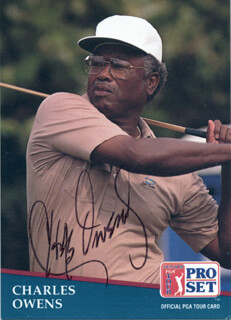 Autographs: CHARLES OWENS - TRADING/SPORTS CARD SIGNED