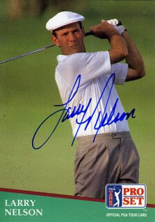 Autographs: LARRY NELSON - TRADING/SPORTS CARD SIGNED